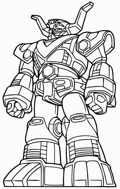 Coloring Ninja Steel Power Rangers Robot Giant