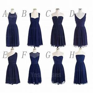 Navy blue bridesmaid dresses, short bridesmaid dresses ...