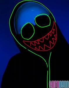 Light Up LED Neon Macabre Clown EL Wire Mask Rave EDM
