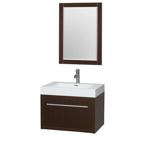 Aster 30 Inch Wall Mounted Bathroom Vanity In Espresso