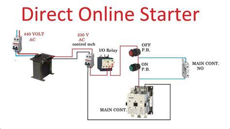 direct  starter dol starter connection  hindi