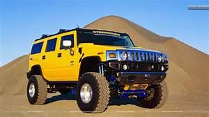 Hummer Yellow Car Mountain HD Desktop Wallpaper Instagram