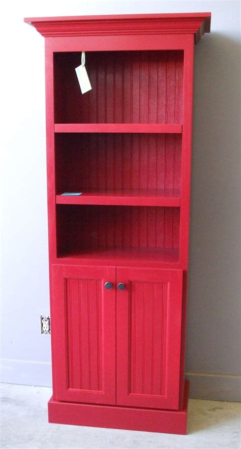 Red Bookcase With Doors  Stuff I've Made Or