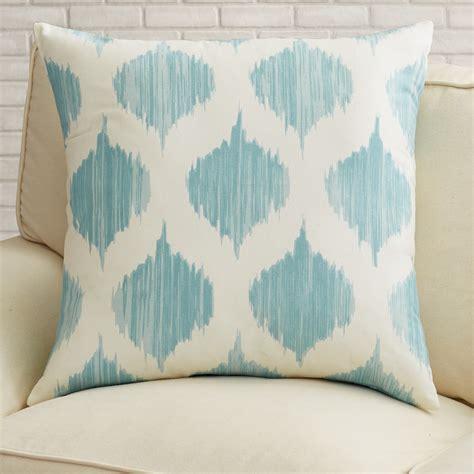 Wayfair Blue Decorative Pillows by Varick Gallery Aguilar Cotton Throw Pillow Reviews Wayfair