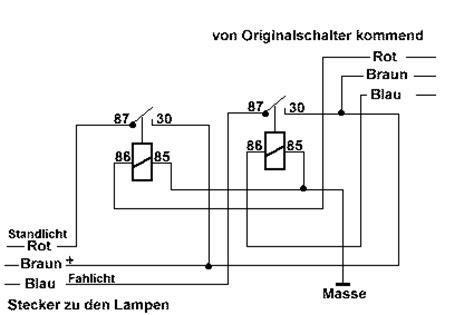 licht relais umbau