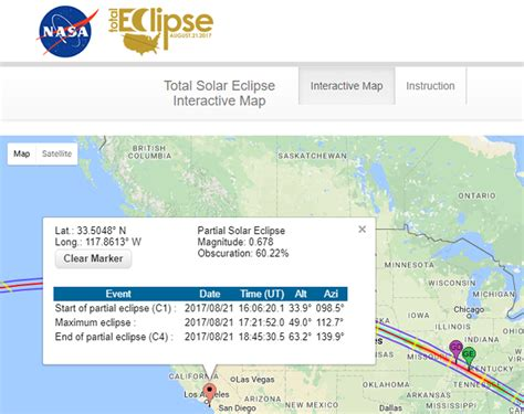 Nasa Interactive Solar Eclipse Map.Nasa Solar Eclipse Interactive Map