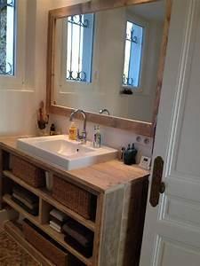 Idée Meuble Salle De Bain : id e d coration salle de bain meuble salle de bain pays bois avec tablette suppl mentaire ~ Teatrodelosmanantiales.com Idées de Décoration