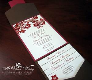 red and brown wedding invitation a vibrant wedding With wedding invitations red motif