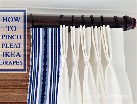 how to pinch pleat ikea curtains window treatments