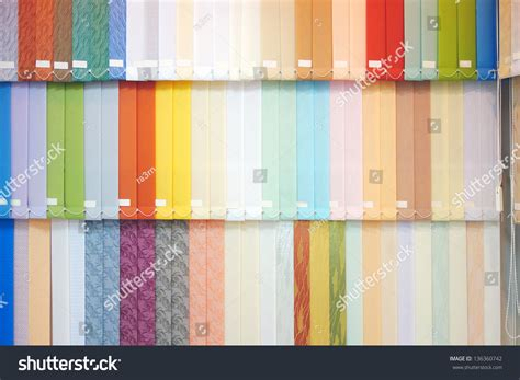 Background From Multi-colored Vertical Blinds Stock Photo