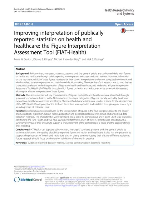 Fiat Assessment by Pdf Improving Interpretation Of Publically Reported