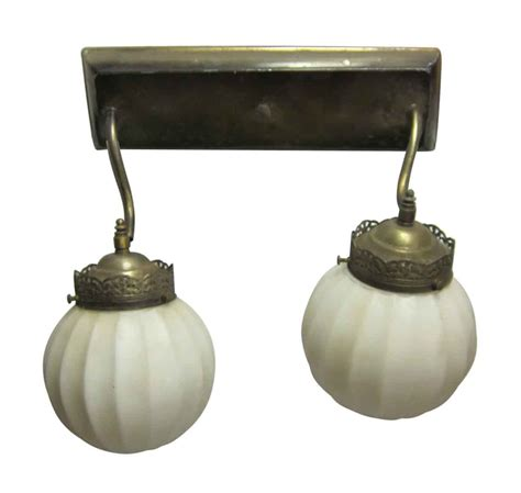 antique brass ornate two arm down light sconce olde good
