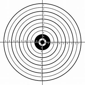 free printable shooting targets for pistol rifle airgun With bullseye chart template