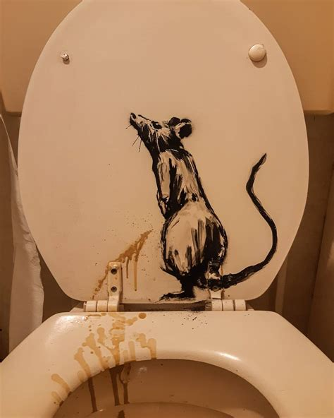 banksy rat bathroom installation streetartnews