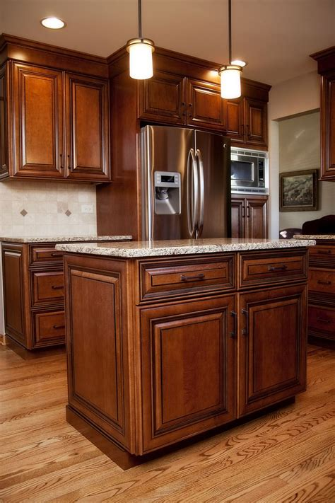 maple kitchen furniture beautiful maple stained cabinets with black glaze in this plainfield il cook 39 s kitchen river