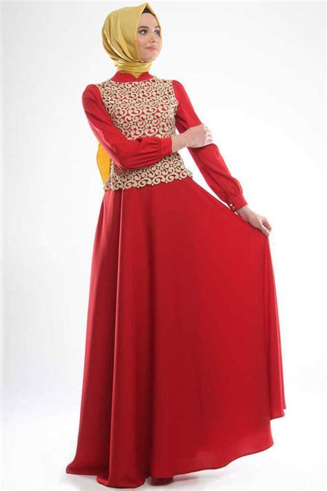 model gamis batik kombinasi polos brokat modern blazer