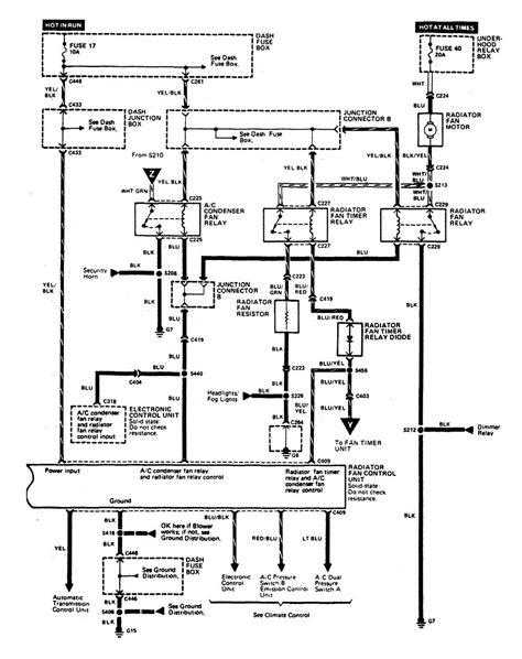 acura legend 1990 wiring diagram hvac controls