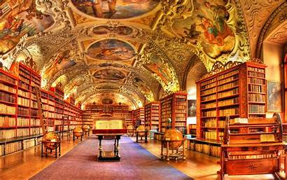 Library Books Interior Hdr Wallpapers 8k Wallpaperup