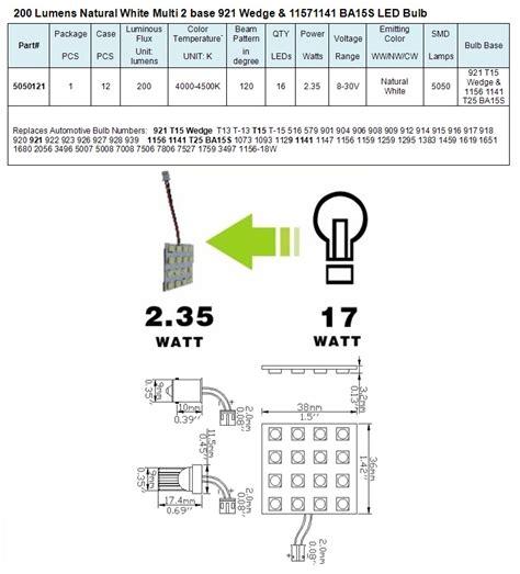 green longlife 5050121 multi base wedge rv led light bulb