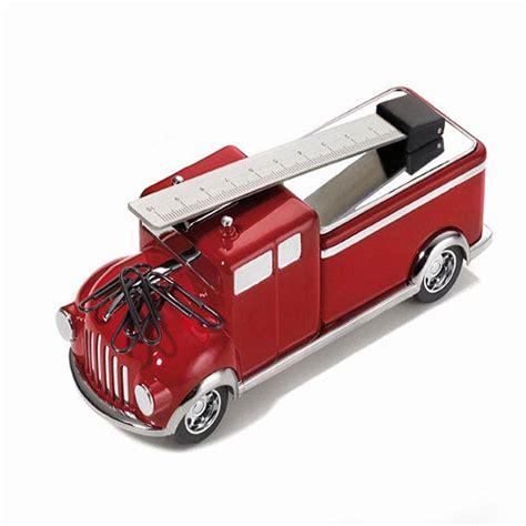 cadeau pour bureau presse papier camion de pompiers aimanté décoration de