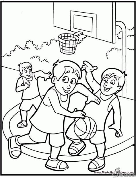 Kleurplaat Basketbal by Kleurplaten Basketbal Kleurplaten Kleurplaat Nl