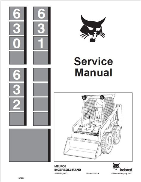 bobcat 630 631 632 skid steer loaders service manual pdf