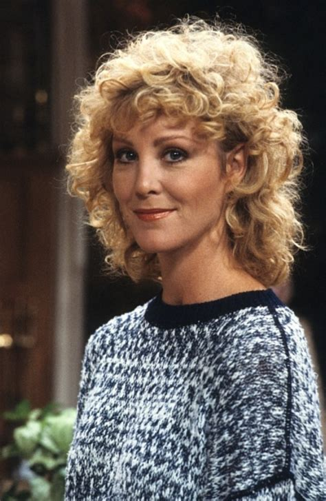 Joanna Kerns on the set of Growing Pains in 1985   Growing