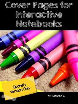 cover pages  interactive notebooks english spanish