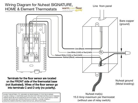 Wiring Diagram For Electric Heat by Ditra Heat Thermostat Wiring Diagram Gallery Wiring
