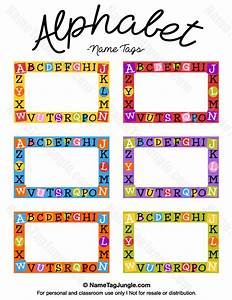 free printable alphabet name tags the template can also With free school labels template