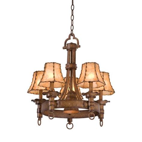 americana 5 light wrought iron rustic chandelier