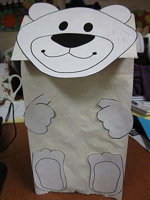 polar bear hand puppet printable   polar bear poem