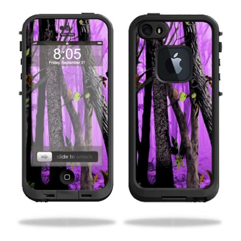 purple lifeproof iphone 5s protective vinyl skin decal cover for lifeproof iphone 5