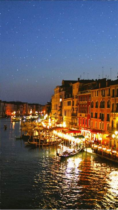 Venice Italy Night Woodenboxlwp