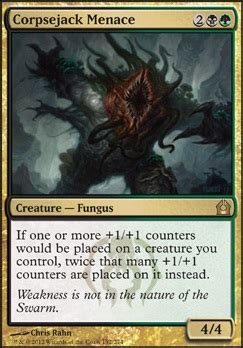 Standard Mtg Decks Tapped Out by Corpsejack Menace Mtg Card