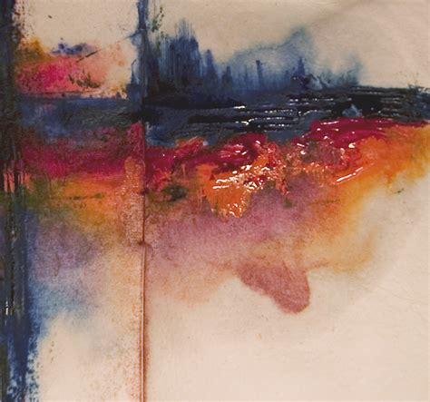 Abstract Art Watercolor Glistening Thoughts Watercolor