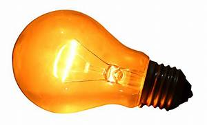 Glowing Yellow Light Bulb PNG image - PngPix