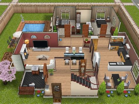 sims freeplay house ideas images  pinterest