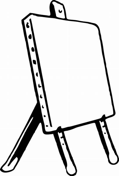 Easel Clipart Drawing Clip Coloring Simple Transparent