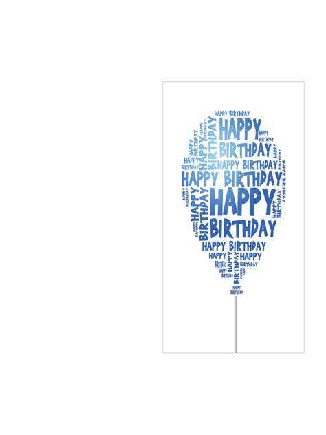 birthday card template   templates   word
