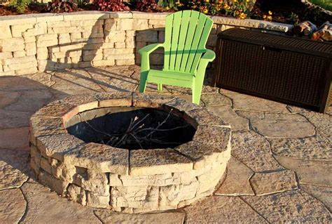 flagstone pit patio block project kit modern patio