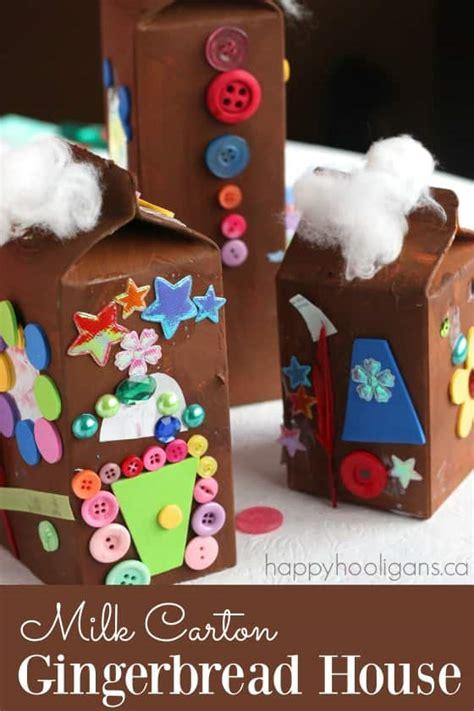 milk carton gingerbread houses happy hooligans