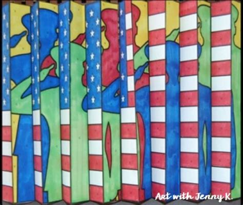 patriotic art project  kids art lessons elementary