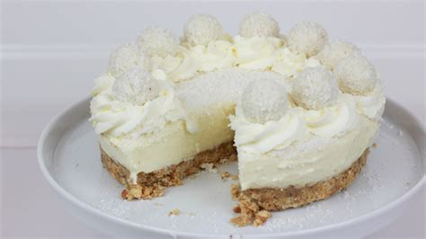 süßigkeiten torte ohne backen raffaello torte ohne backen no bake raffaello cheesecake cookbakery chefkoch de