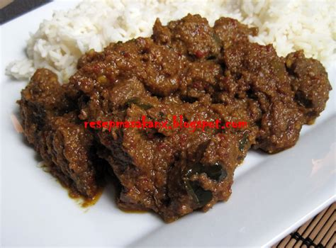 rendang daging sapi resep masakan