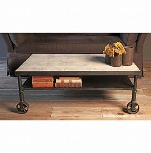 belker industrial loft reclaimed wood iron casters cart With industrial wood coffee table with wheels
