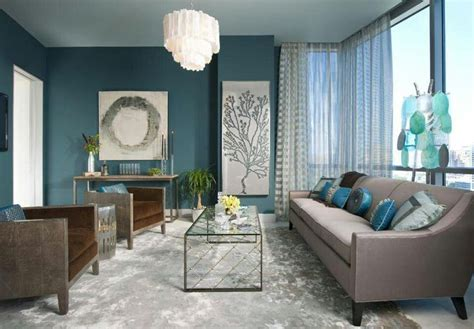 Aqua Colored Home Decor: 8 Feng Shui Paint Color Ideas For The Living Room