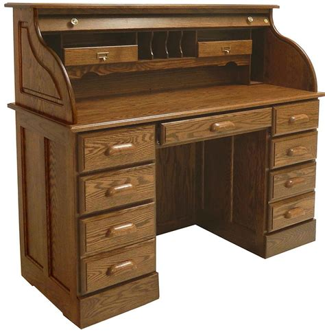 solid oak roll top desk crafted in the tradition of the masters