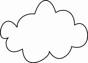 Simple Cloud Outline Clip Art at Clker.com - vector clip ...