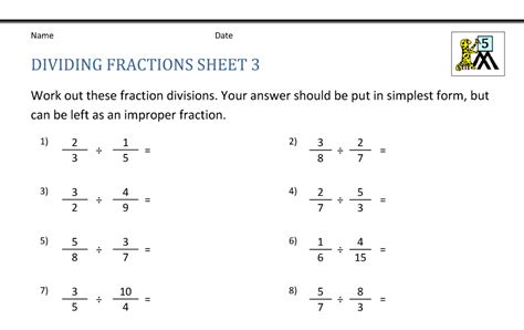 30 Dividing Fractions Worksheet With Answer Key ...